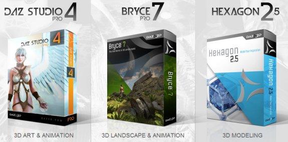 Bryce 7 Pro and Daz Studio 4 Pro